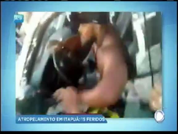 Exclusivo: vídeo registra acidente que feriu 15 em Salvador