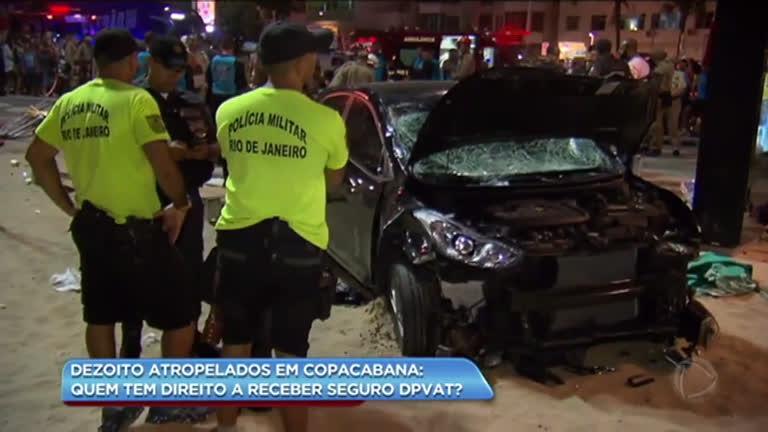 Vítimas do atropelamento em Copacabana têm direito a receber seguro DPVAT