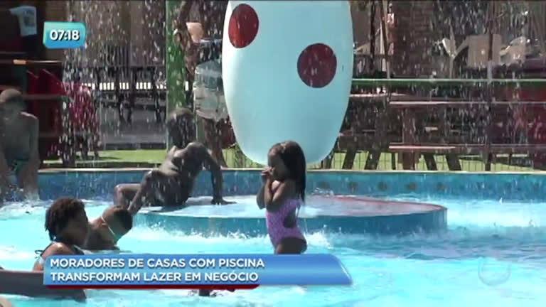 63927d51d Moradores abrem as portas e transformam casas com piscina em negócio na  Baixada - Rio de Janeiro - R7 Balanço Geral RJ