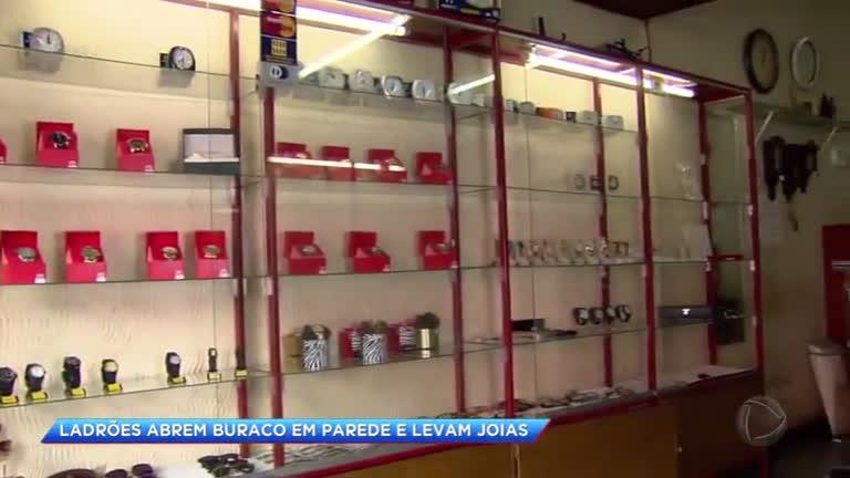 26328e2b0d9 Ladrões invadem relojoaria durante madrugada em Santa Luzia (MG)
