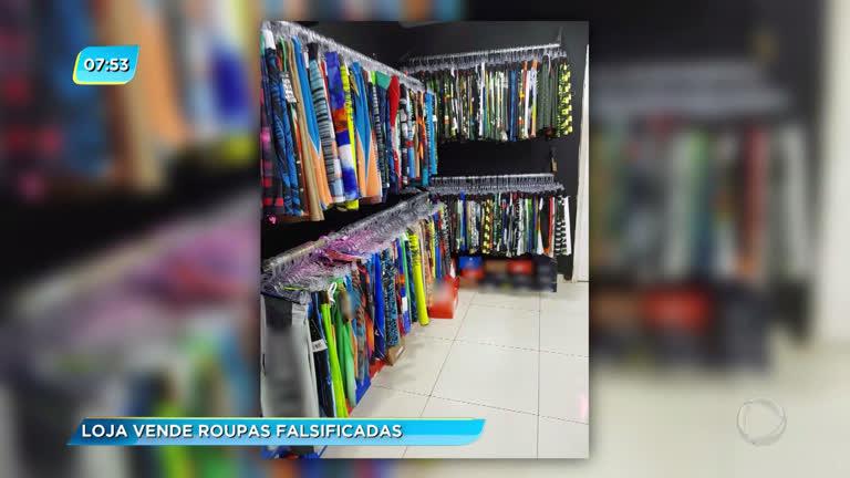 8248ee73b Polícia apreende três toneladas de roupas falsificadas em shopping de Campo  Grande - Rio de Janeiro - R7 RJ no Ar