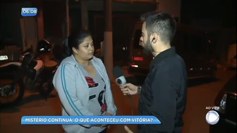 Mãe de Vitória não perde a esperança de reencontrar a filha viva - RecordTV  - R7 Balanço Geral Manhã d7e6950d65ceb