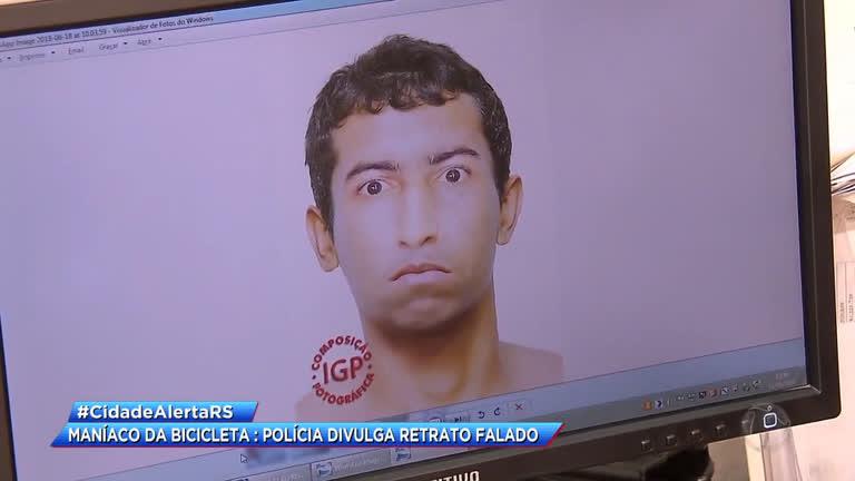 Resultado de imagem para Maníaco da bicicleta : polícia divulga retrato falado