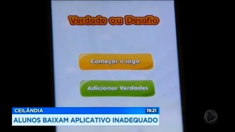 Alunos baixam aplicativo inadequado em Ceilândia (DF)