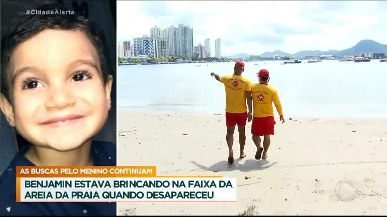 Menino de 4 anos desaparece enquanto brincava em praia no litoral de SP -  RecordTV - R7 Cidade Alerta