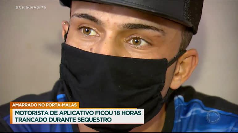 Motorista de aplicativo fica 18 horas trancado em porta-malas durante  sequestro - RecordTV - R7 Cidade Alerta