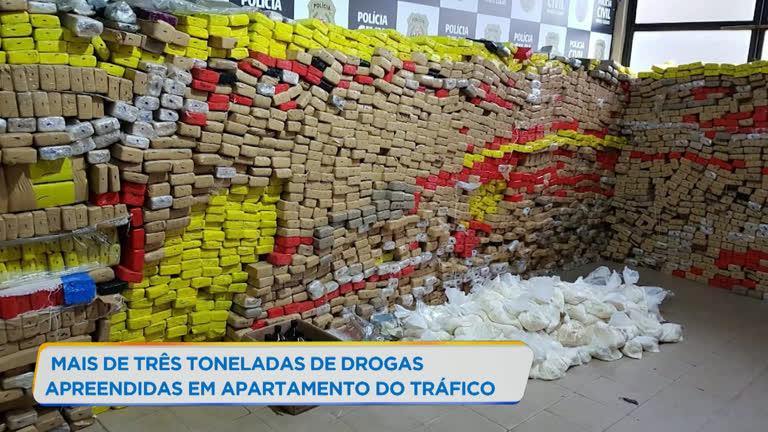 Mais de três toneladas de drogas são apreendidas em Minas Gerais