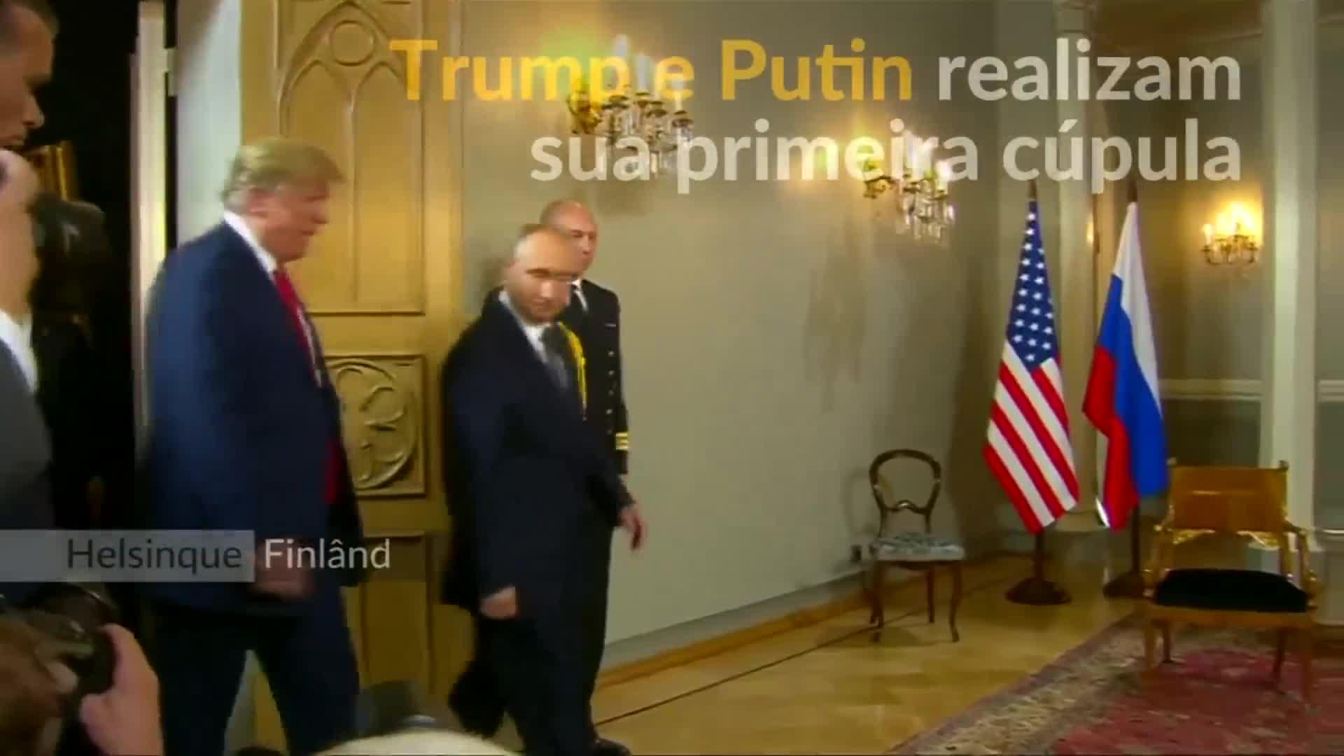 Trump e Putin se reúnem para cúpula em Helsinque