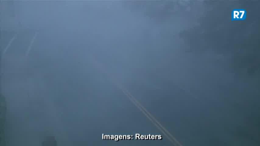 Veja imagens da chegada do furacão Florence à costa dos EUA