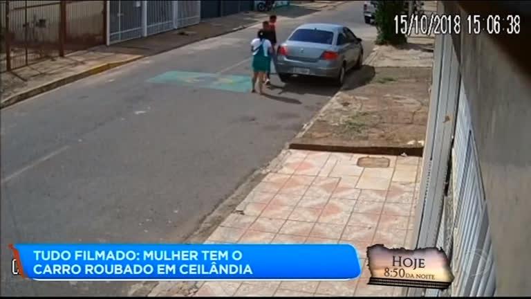 Bandidos armados roubam carro de mulher em Ceilândia