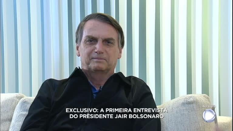 Resultado de imagem para Entrevista com o presidente eleito Jair Bolsonaro na Record